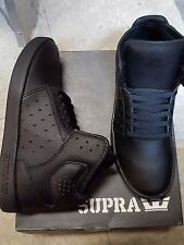SUPRA ATOM KIDS SHOES BLACK BLACK SIZE 5 NEW IN BOX
