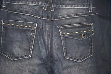 MENS 32 X 30 GUESS JEANS - DARK DENIM/FADED/ DISTRESSED JEANS - USED