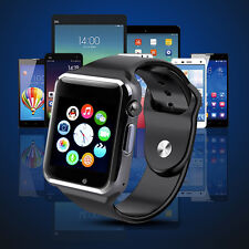 A1 MONTRE BLUETOOTH GSM SIM SMART WATCH ANDROID IPHONE SAMSUNG WHATSAPP black