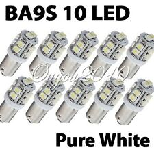10X T11 BA9S T4W 10 SMD LED Pure White Car Wedge Side Light Lamp Bulb DC 12V