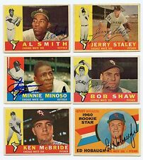 Lot Of 11 Dif Signed 1960 Topps Chicago WHITE SOX  Staley, Smith MINOSO +  KOA