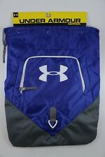 UA UNDER ARMOUR UNDENIABLE SACKPACK ROYAL BLUE/GRAY DRAWSTRING GYM BAG BACKPACK