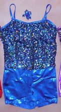 NWT DANCE Costume Hologram Sequin Front Shorty unitard 4 Colors Foil Wolff Ford