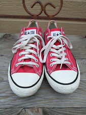 Converse All Star Red Canvas Low Sneakers Men's 10