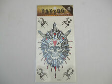 Fun Tattoos Skull In Front Of Spiders Web, Swords Going Through Skull, New