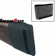 Hunting Gun Rifle Recoil Pad Rubber Slip On Butt Stock Extension Shock Pad Black