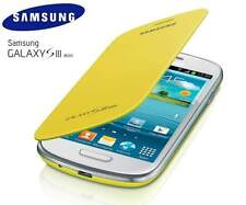 SAMSUNG Galaxy s3 i8190 GENUINE ORIGINALE MINI FLIP COVER CASE-GIALLO