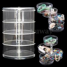 Acrylic Cosmetic Make Up Clear Organiser Plastic Rotating Drawers Storage Case