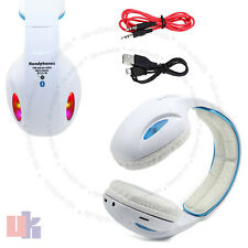LED Wireless Bluetooth 4.2 White Headphone Stereo Music Headset Super Bass UKED