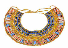 Egyptian Queen Cleopatra Beaded Collar Necklace Halloween Costume Burning Man