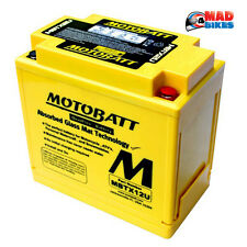 New Motobatt MBTX12U Gel Upgrade AGM Motorcycle Battery Replacement for YTX14-BS