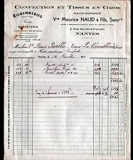 """NANTES (44) CONFECTION & TISSUS """"NAUD & CORMIER / Vve Maurice NAUD"""" en 1950"""