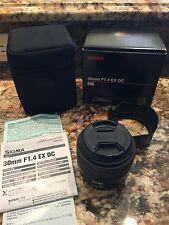 Sigma 30mm F1.4 EX DC lens for Canon