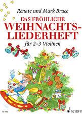 Violine Noten : Das fröhliche Weihnachtslieder-Heft (f. 2-3 Violinen) leicht -