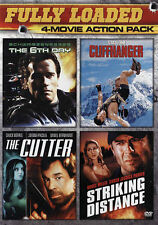 The 6th Day/The Cutter/Cliffhanger/Striking Distance (DVD, 2015 New  Action