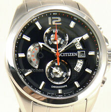 CITIZEN MEN CHRONOGRAPH JAPAN STAINLESS STEEL DATE 100m AN3420-51E