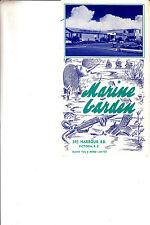 Marine Garden 345 Harbour Road Victoria BC Canada Vintage Brochure Island Tug