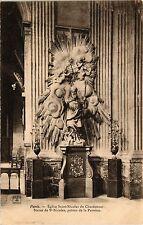 CPA Paris 5e-Eglise Saint Nicolas du Chardonnet-Statue de St Nicolas (323936)