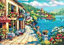 "Dimensions Gold Counted Cross Stitch kit 7"" x 5"" ~ OVERLOOK CAFE #65093 Sale"