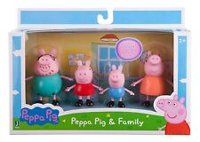Peppa Pig Toy Family Pack Figures Toys Gift Set Daddy Mummy Kids Playset NEW