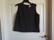 EUC ENADVANCE womens 16 grey career vest, round neck,back button, fully lined