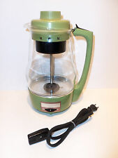 Vintage Proctor Silex 9 Cup Electric Glass Percolator Coffee Pot Mod 70702 WORKS