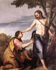 Oil painting alonso cano - noli me tangere figures Christ with people in scene