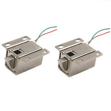 2Pcs Door Drawer Tongue Down Electric Lock Assembly Solenoid DC 12V Slim Design