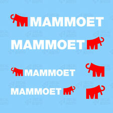 MAMMOET DECALS 1/50 SCALE-  WHITE/RED
