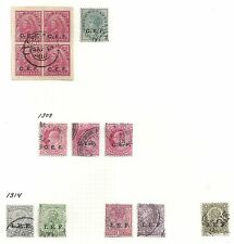 India collection of 13 overprinted stamps  OPPORTUNITY!