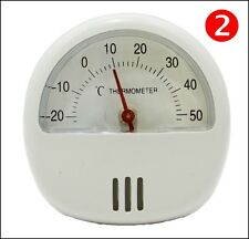 2 x WHITE Fridge Freezer Thermometer Indoor Outdoor Magnetic Kitchen Temperature