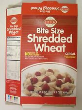 HY-TOP Cereal Box 1996 BITE SIZE SHREDDED WHEAT 17.2 oz [G7e10]