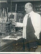 Dr T. M. Price of US Health Department Test Salmon For Dye Press Photo