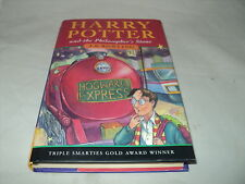 Harry Potter and the philosopher's stone First Published Bloomsbury Run 26 VG
