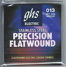 GHS 1000 Precision Flatwound electric guitar strings, Medium .013-.054