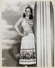 Orig 1940's ALEXIS SMITH Beach Beauty.. SURFBOARD PIN-UP by WELBOURNE