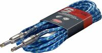 Stagg High Quality Guitar Instrument Cable Lead 6m 20 Feet Phono SGC6VTBL New