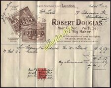 1907 London HAIR CUTTER, PERFUMER & WIG MAKER. Robert Douglas 21-23 NEW BOND ST