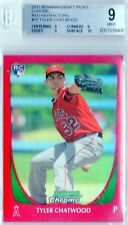 5/5 Tyler Chatwood Angels Rockies 2011 Bowman Draft Red REF Chrome RC Rookie SP