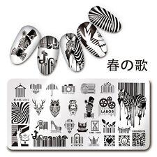 1Pc Nail Art Stamp Plate Bar Code QR Code Design Manicure Stencil Harunouta L041
