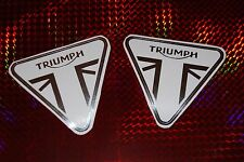 Triumph Chrome motorcycle Helmet bumper sticker. ST Street Speed Triple 675