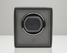 WOLF 455203 Black Pebble Finish 1.8 Cub Watch Winder with Lock-In Cuff
