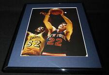 Dave Debusschere vs Elgin Baylor Framed 11x14 Photo Display Knicks Lakers