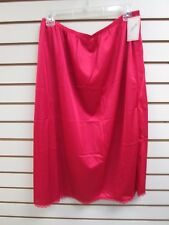 "Ventura Plus Size Nylon Half Slip 29"" Long - 4X RED  #7006 - NWT"