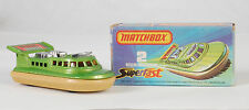 VINTAGE RESCUE HOVERCRAFT MATCHBOX CAR IN BOX! NUMBER 2 LESNEY ENGLAND 1970s a
