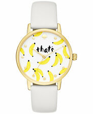 NEW kate spade New York Women's Metro That's Banana White Strap Watch KSW1122