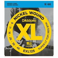 D'Addario EXL125 XL Electric Guitar Strings - Super Light Top / Reg Bottom 9-46