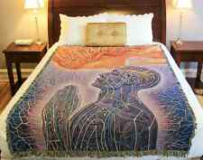 """NEW!! Kiss Of The Muse Art Blanket by Alex Grey 100% cotton woven in USA 77""""x51"""""""