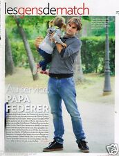 Coupure de presse Clipping 2012 (1 page) Roger Federer
