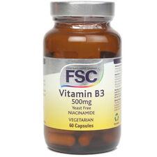 FSC Vitamin B3 Nicotinamide 60 Capsules **BUY 1 GET 1 FREE**